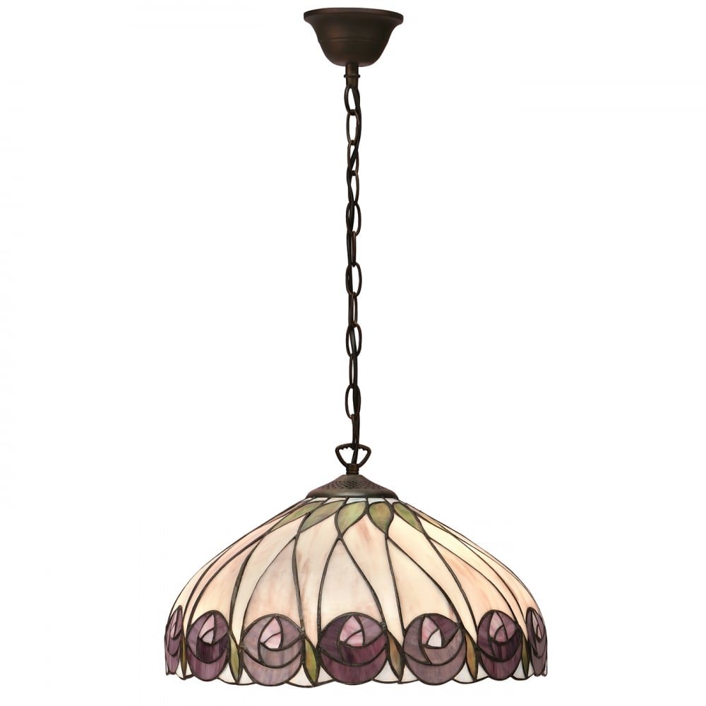 Tiffany Ceiling Light Inspired By Mackintosh Art Nouveau