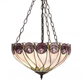 HUTCHINSON Art Nouveau uplighter ceiling pendant