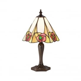 INGRAM small Mackintosh style Tiffany table lamp