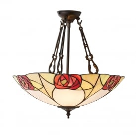 INGRAM Tiffany ceiling pendant light Art Nouveau Mackintosh style