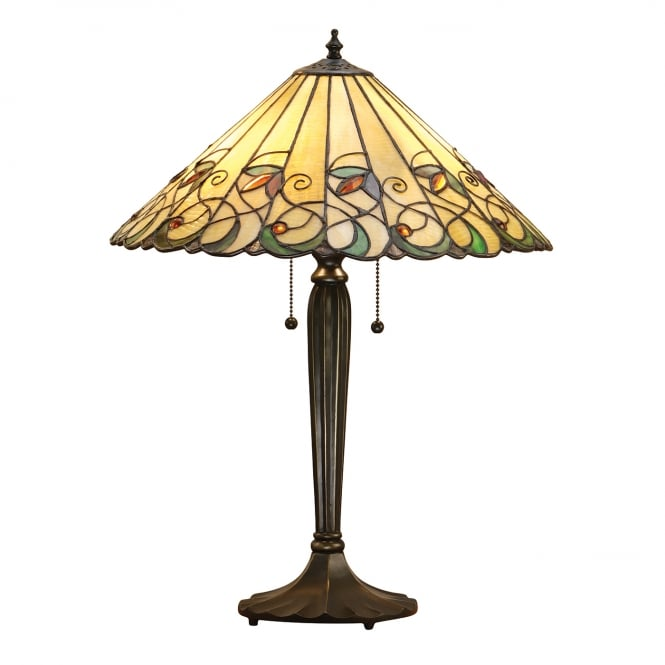 Kensington Tiffany Collection JAMELIA Tiffany glass table lamp in Art Nouveau style (large)