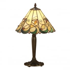 JAMELIA Tiffany glass table lamp in Art Nouveau style (medium)