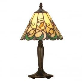 JAMELIA Tiffany glass table lamp in Art Nouveau style (small)
