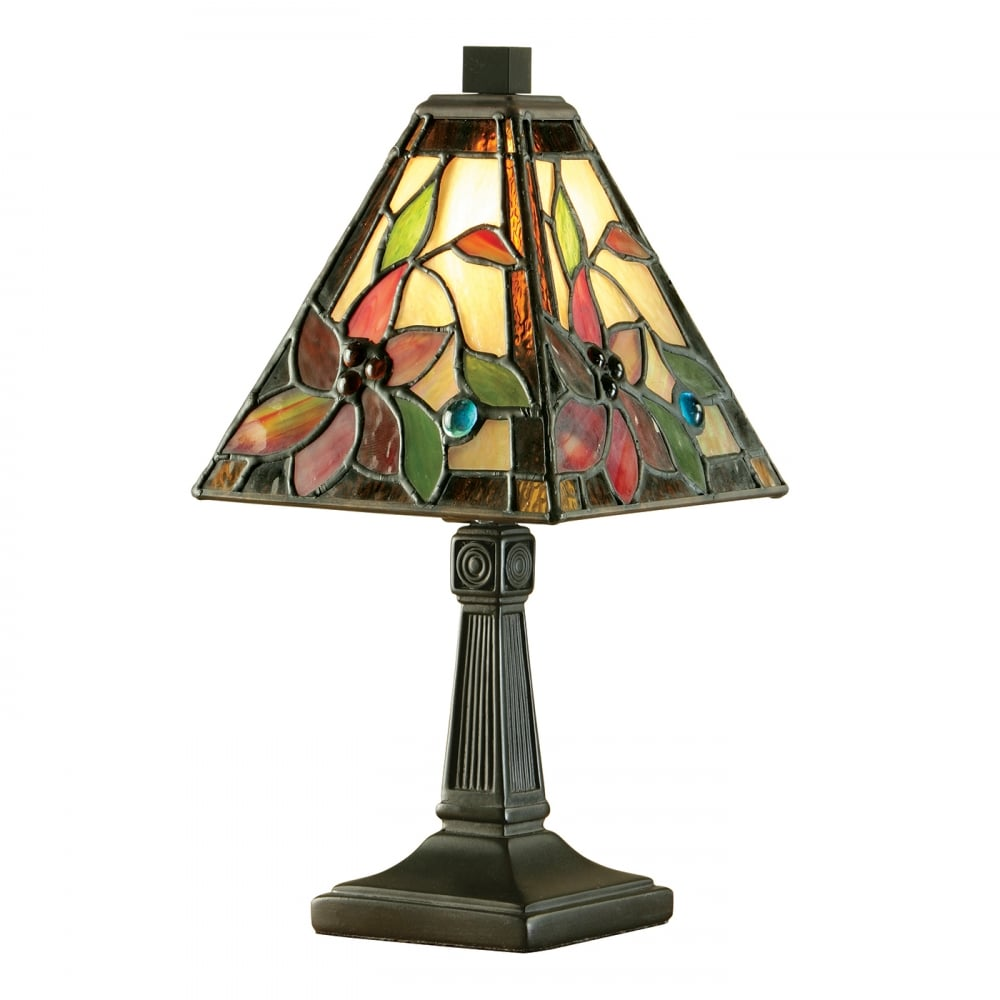 High Quality LELANI Small Mini Tiffany Glass Table Lamp