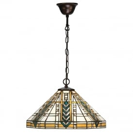 LLOYD Art Deco Tiffany hanging ceiling pendant light