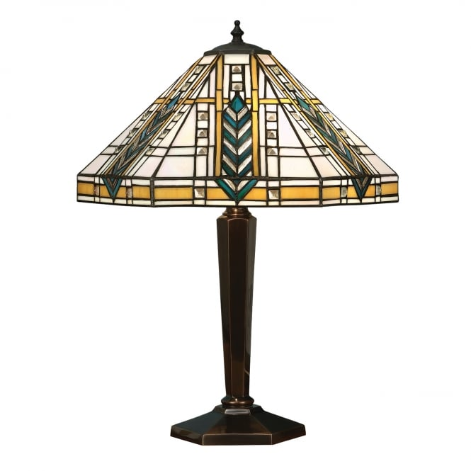 Kensington Tiffany Collection LLOYD Tiffany Art Deco table lamp on antique base