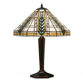 LLOYD Tiffany Art Deco table lamp on antique base