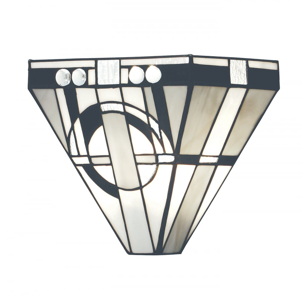 art deco wall washer wall light with tiffany stained glass. Black Bedroom Furniture Sets. Home Design Ideas