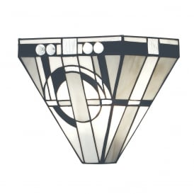 METROPOLITAN Tiffany uplighter wall light, Art Deco style