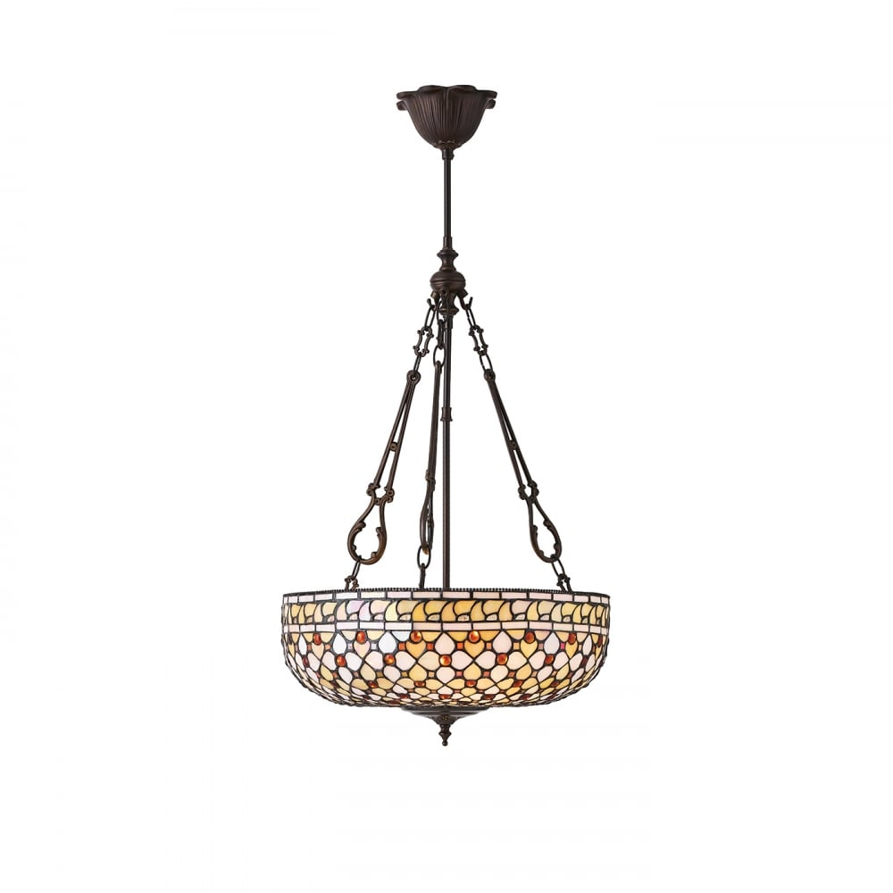 Tiffany Ceiling Pendant Light With Geometric Neutral