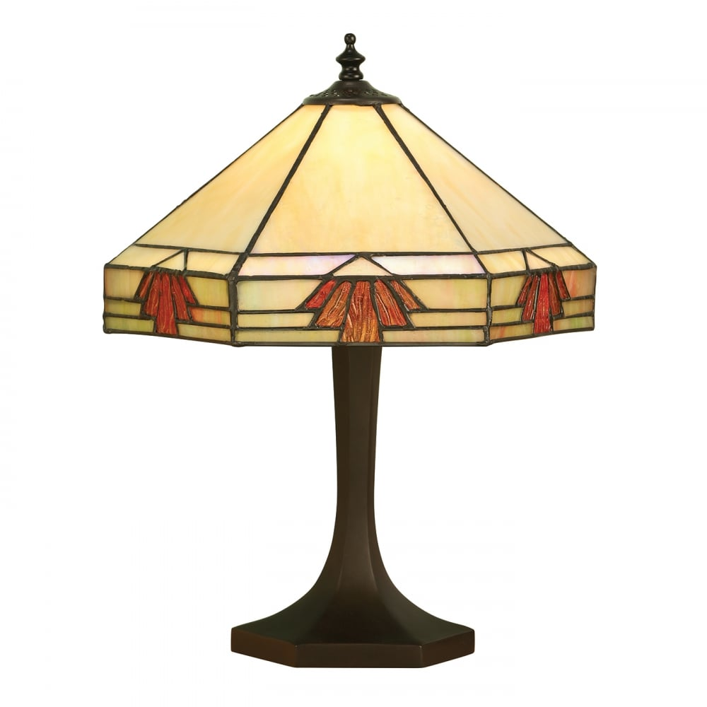 Tiffany Art Deco Table Lamp NEVADA Subtle Natural Shades