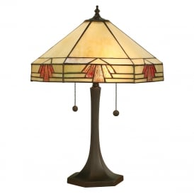 NEVADA Large Art Deco Style Tiffany Table Lamp