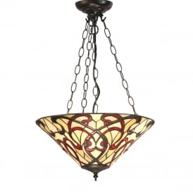 RUBAN Tiffany Art Nouveau inverted ceiling pendant light
