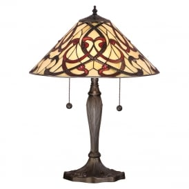 RUBAN Tiffany Art Nouveau style table lamp