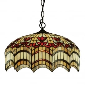 VESTA Tiffany hanging ceiling pendant light for high ceilings