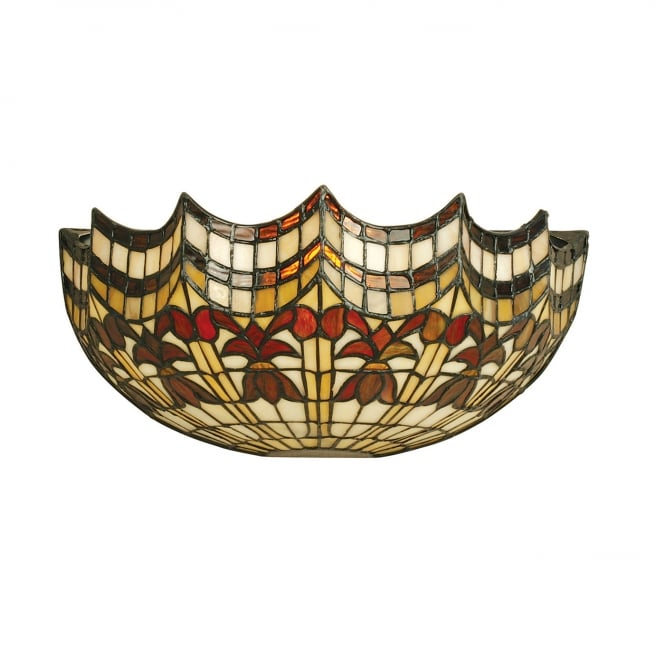 Kensington Tiffany Collection VESTA Tiffany stained glass wall light