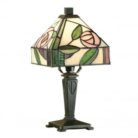 WILLOW mini Tiffany table light, Art Nouveau style