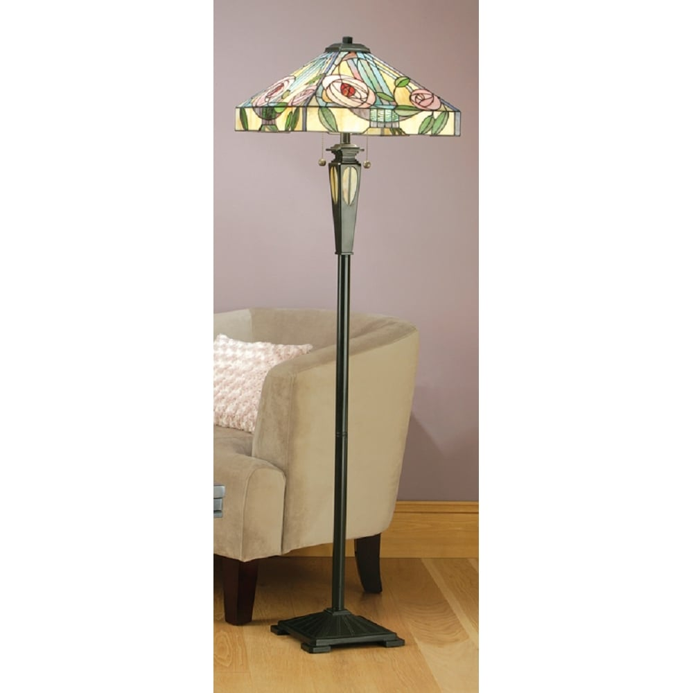 quality design 92340 5bb74 WILLOW Tiffany standard lamp, Art Nouveau style