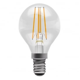 LED GOLF BALL FILAMENT LIGHT BULB warm white 4 watt clear glass with SES cap