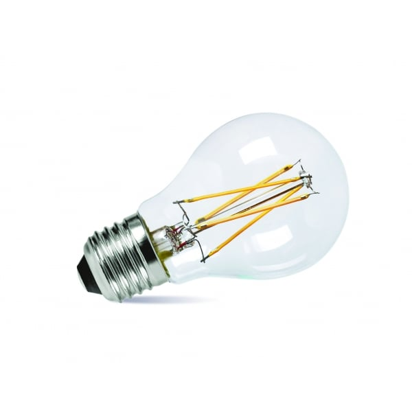 Led Classic Shaped Dimmable Light Bulb Es Cap With Clear Glass Bulb