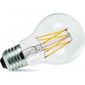 LED LOW ENERGY LIGHT BULB - 8 watt ES decorative classic shape light bulb