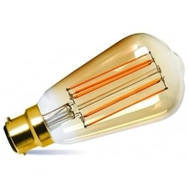 LED VINTAGE FILAMENT STYLE LIGHT BULB - 2.5 watt BC with gold tinted glass