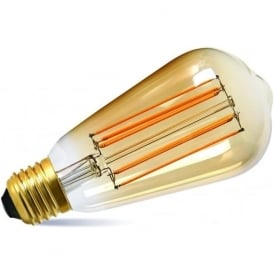LED VINTAGE FILAMENT STYLE LIGHT BULB - 2.5 watt ES with gold tinted glass