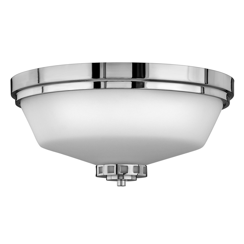 Traditional Flush Fitting Bathroom Ceiling Light, IP 44 Safe