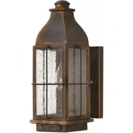 Outdoor garden and patio lighting traditional victorian outside bingham rustic cast brass garden wall light small aloadofball Images