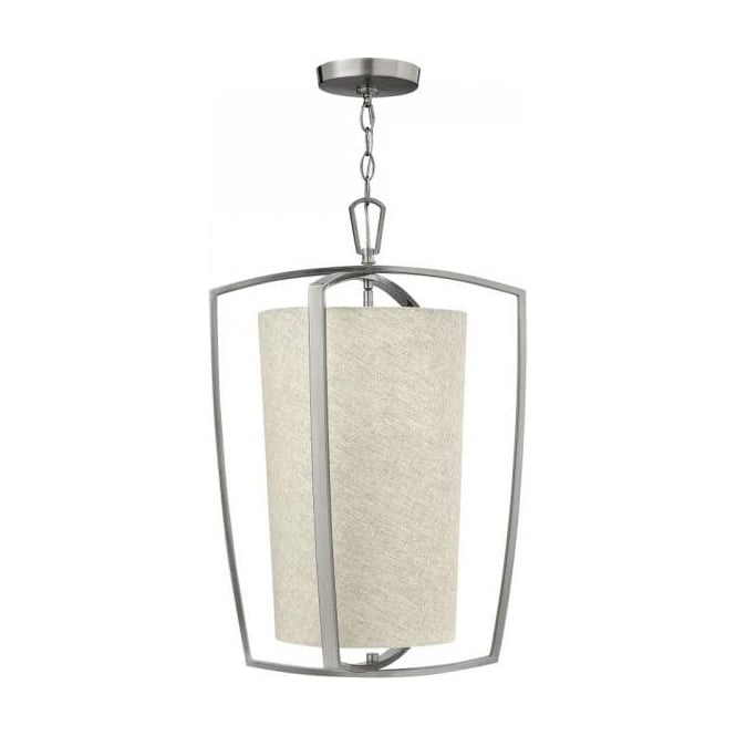 Lincoln American Lighting BLAKELY classic modern style large ceiling pendant light on nickel frame