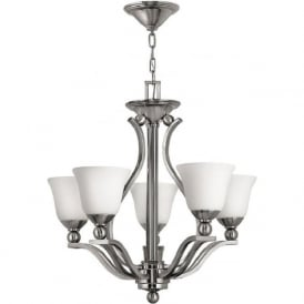 BOLLA brushed nickel ceiling light with 5 bulbs
