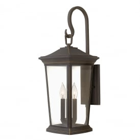 BROMLEY traditional bronze garden wall light - large
