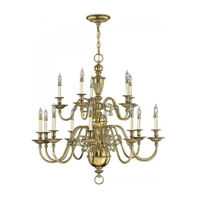 Flemish chandelier with 15 candle lights on gold solid brass frame cambridge large 15 light flemish style chandelier in solid cast brass aloadofball Choice Image