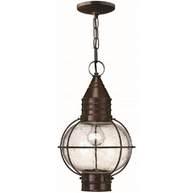 Outdoor hanging lantern in bronze finish porch light on chain ip44 cape cod flush fitting or hanging porch lantern large mozeypictures Images