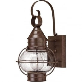 CAPE COD outdoor bronze wall lantern, small