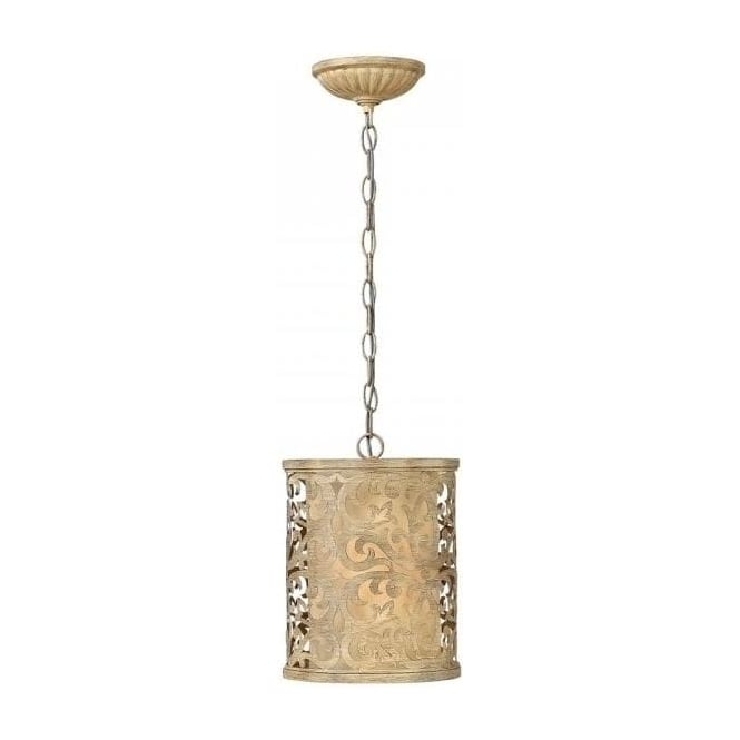 small mini ceiling pendant light with brushed caramel
