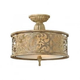 CARABEL decorative Edwardian semi-flush low ceiling light - small