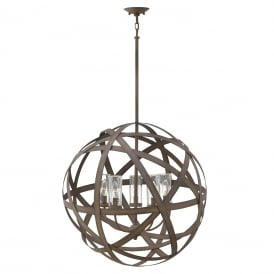 CARSON open frame orb chandelier for indoor or outdoor use