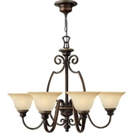 CELLO 6 arm traditional bronze ceiling light