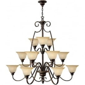CELLO large 15 light traditional bronze chandelier