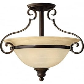 CELLO traditional antique bronze ceiling uplighter