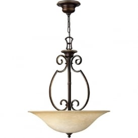CELLO traditional bronze uplighter ceiling pendant