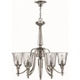 CHANDON classic silver sterling and crystal chandelier (6 lights)