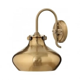 CONGRESS brushed caramel metal wall light in retro styling