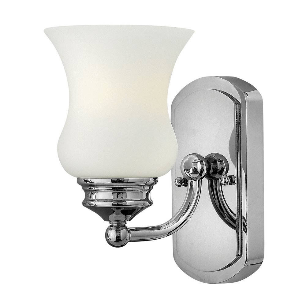 Traditional ip44 chrome bathroom wall light with bell glass shade Traditional bathroom accessories chrome