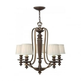 DUNHILL traditional 5 light bronze chandelier