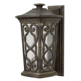 ENZO Victorian Gothic garden wall lantern with ornate scroll detailing - medium