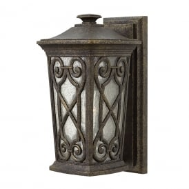 ENZO Victorian Gothic garden wall lantern with ornate scroll detailing - small