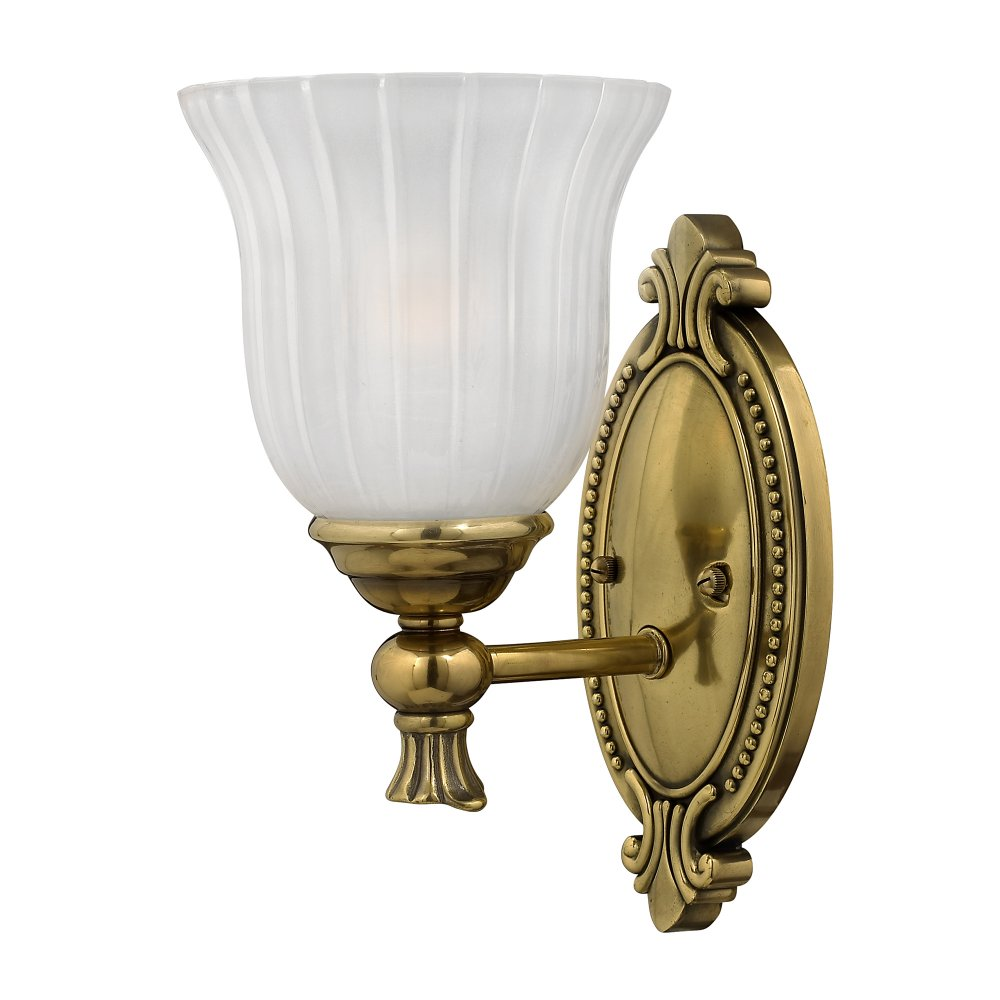 Ip44 traditional bathroom wall light burnished brass for Traditional bathroom wall lights