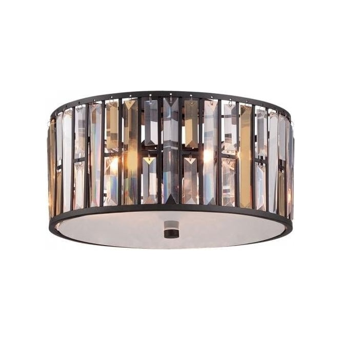 Modern flush fitting low ceiling light with sparkly crystal look gemma low ceiling light with amber and clear crystal prisms bronze frame aloadofball Gallery